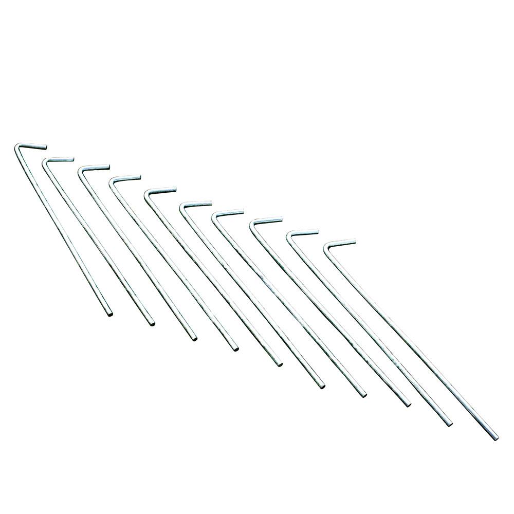 Regatta 8inch Roundwire Steel Pegs - 10 Pack