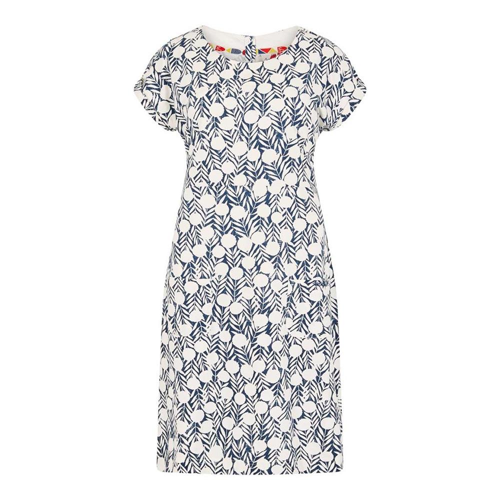 Weird Fish Womens Tallahassee Cotton Dress - Dark Denim - 12