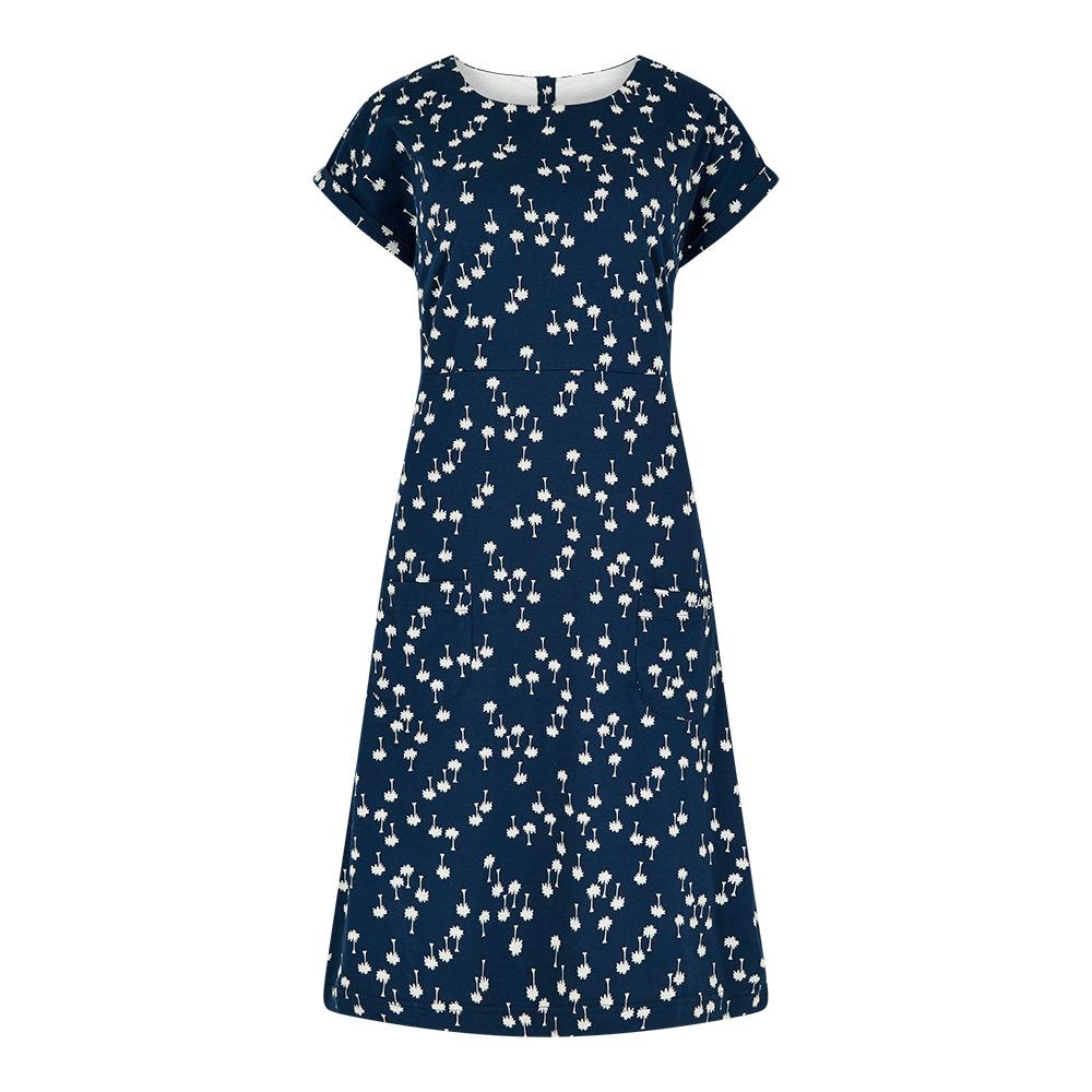 Weird Fish Womens Tallahassee Cotton Dress-Maritime Blue-20