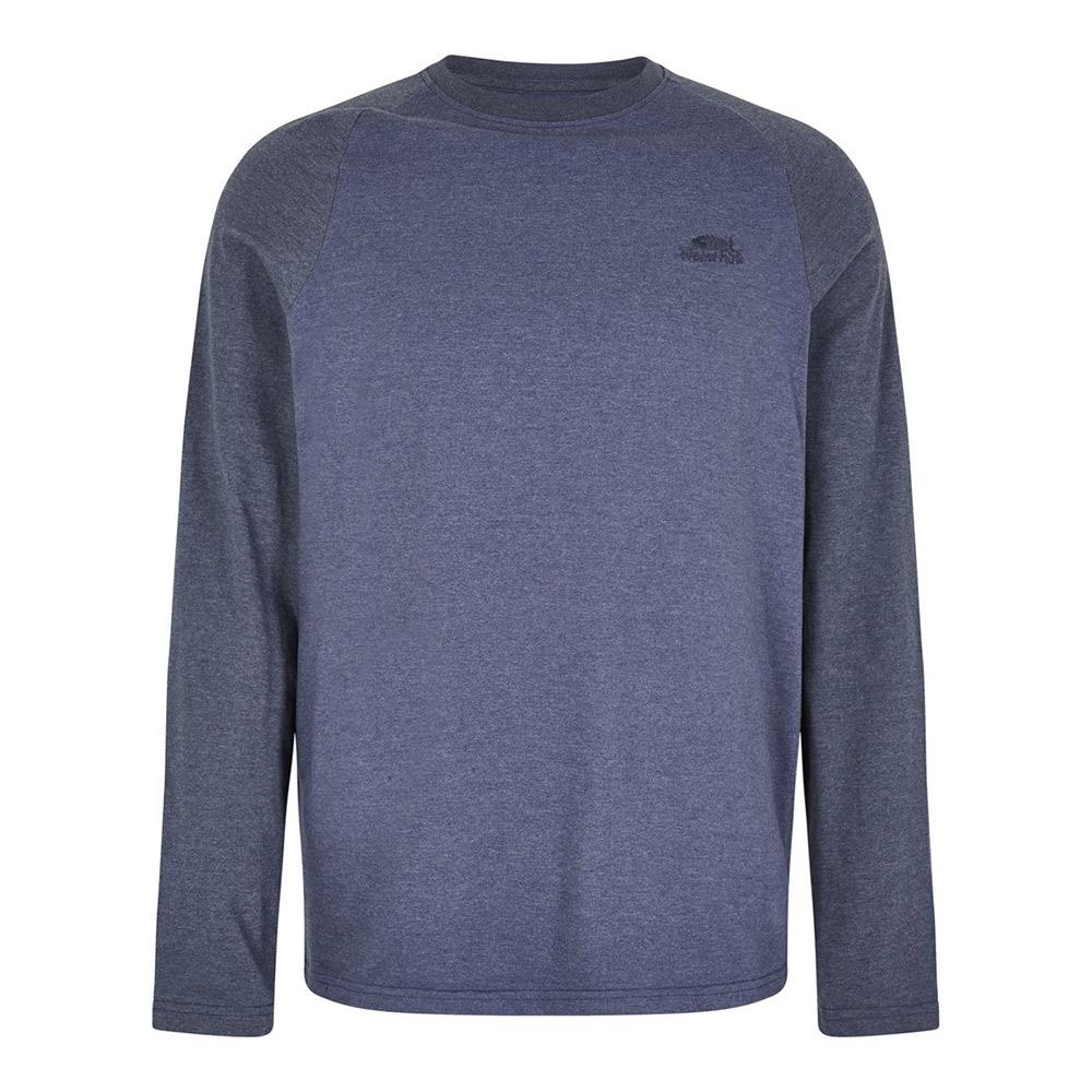 Weird Fish Mens Askill Long Sleeve T-Shirt-Blue Indigo
