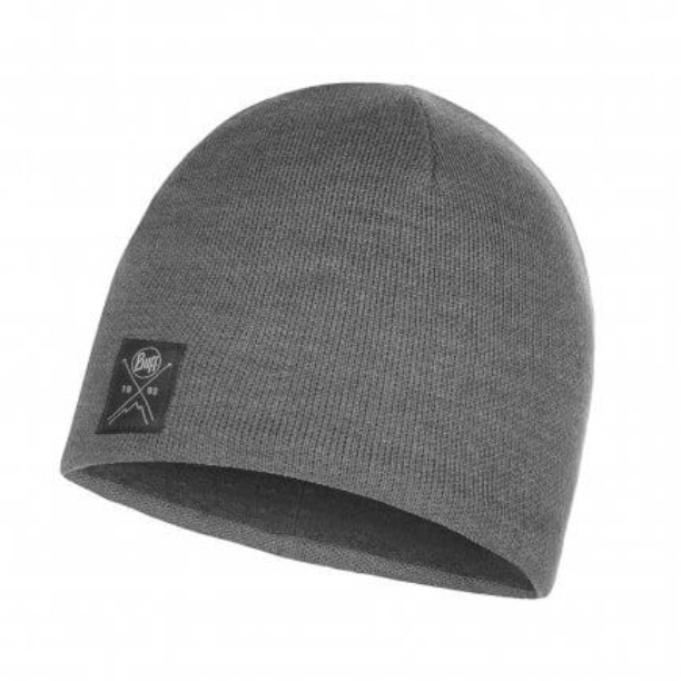 Buff Mens Knitted Polar Hat-grey