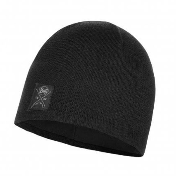 Buff Mens Knitted Polar Hat-black