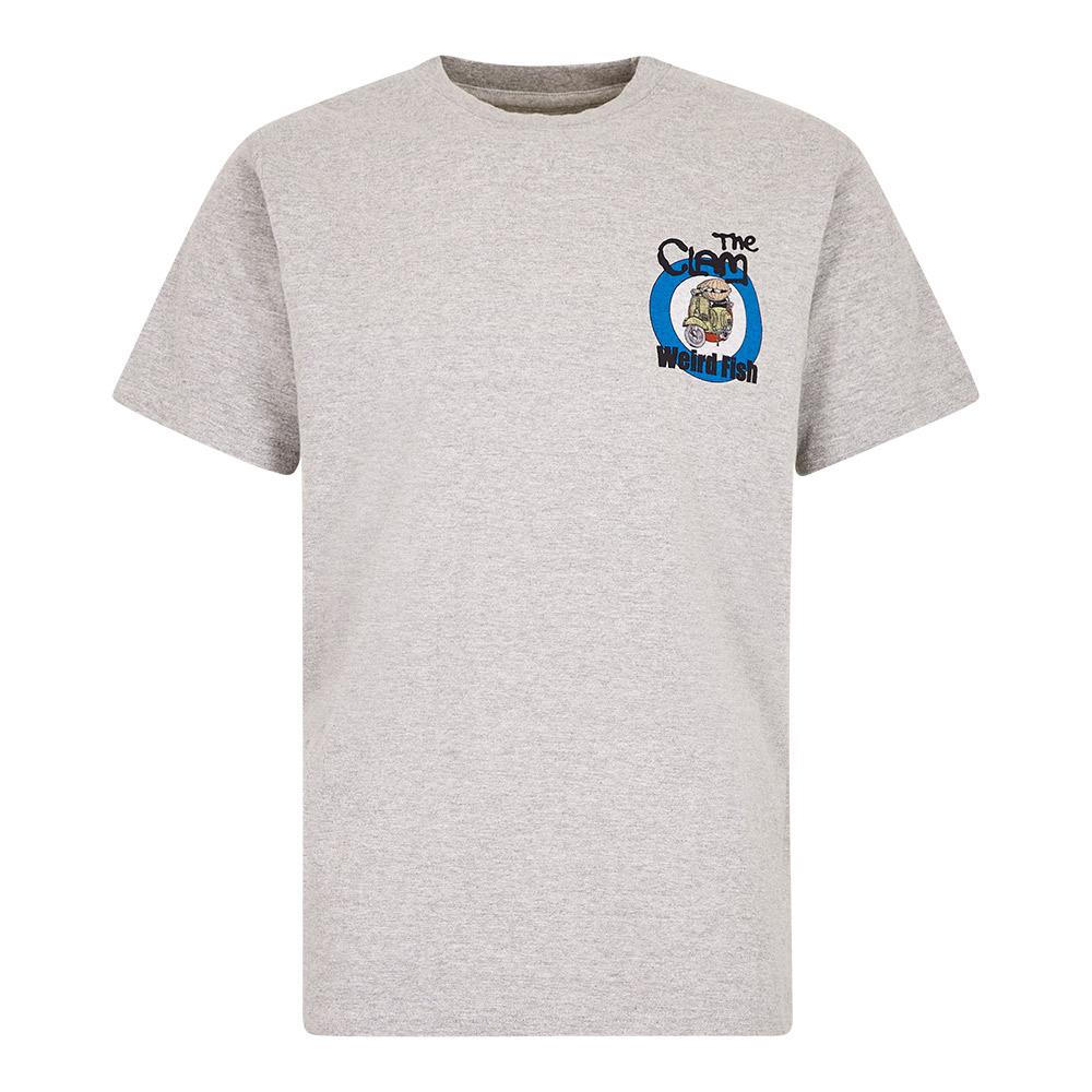 Weird Fish Mens The Clam T-shirt-grey Marl-s
