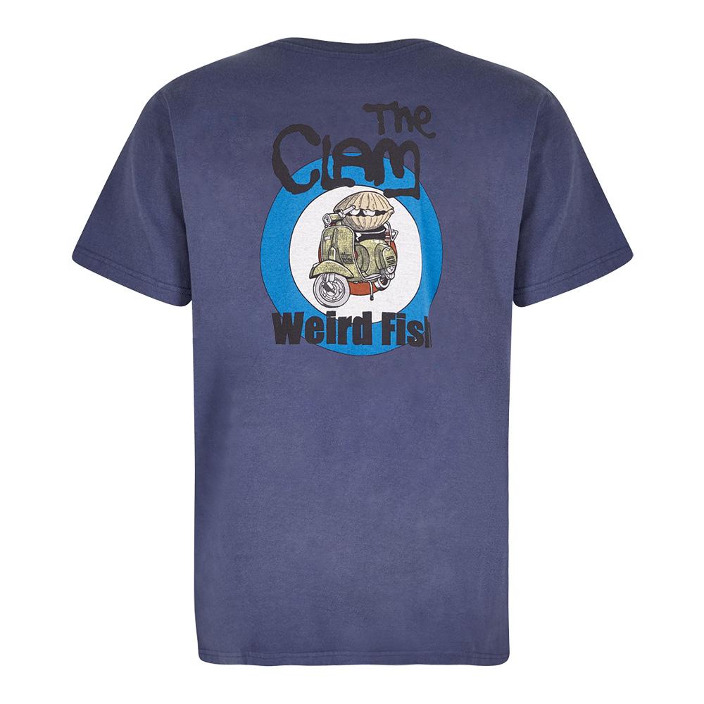 Weird Fish Mens The Clam T-shirt-blue Indigo-s