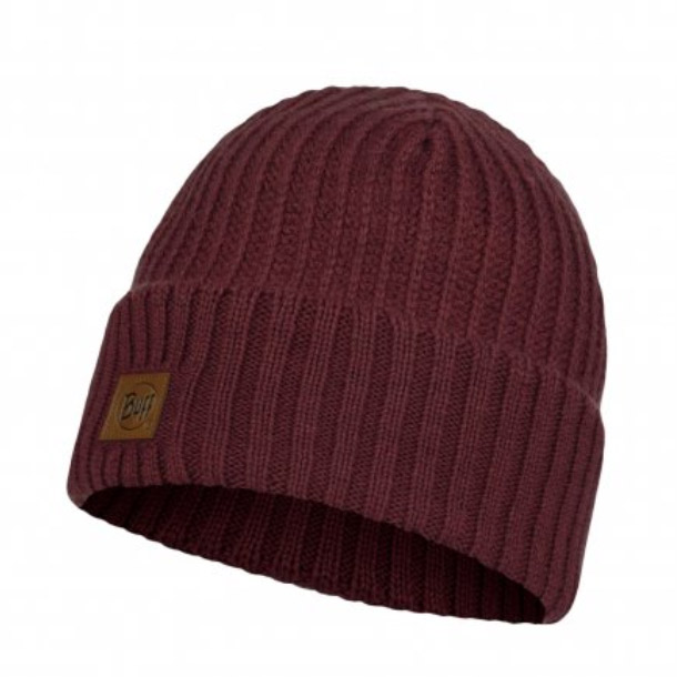 Buff Mens Rutger Knitted Hat-maroon