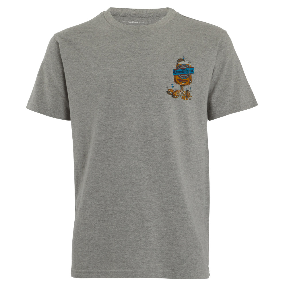 Weird Fish Mens Clam Miguel T-shirt-grey Marl-2xl