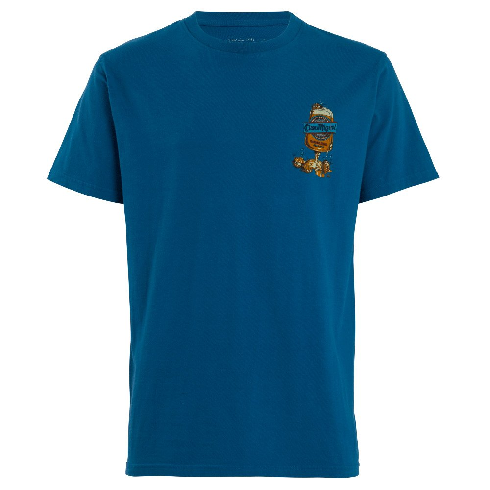 Weird Fish Mens Clam Miguel T-shirt-storm Blue-s