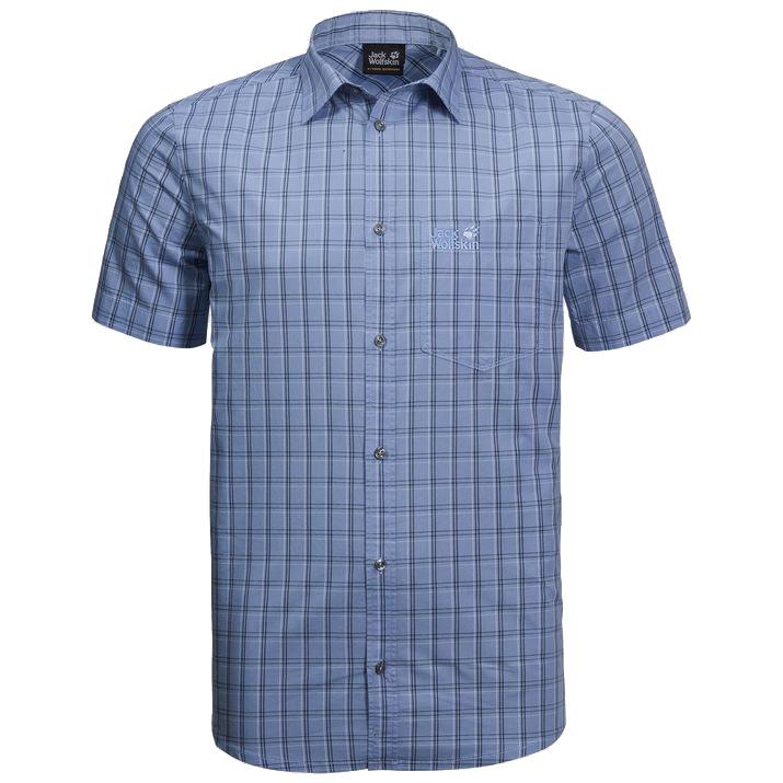 Jack Wolfskin Mens Hot Springs Shirt-shirt Blue Checks-xl
