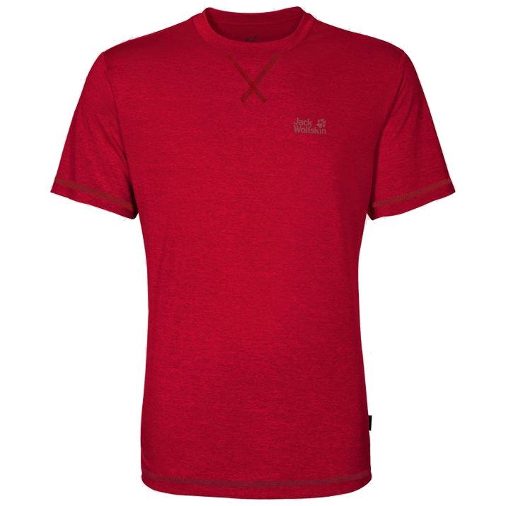 Jack Wolfskin Mens Crosstrail T-shirt-ruby Red-m