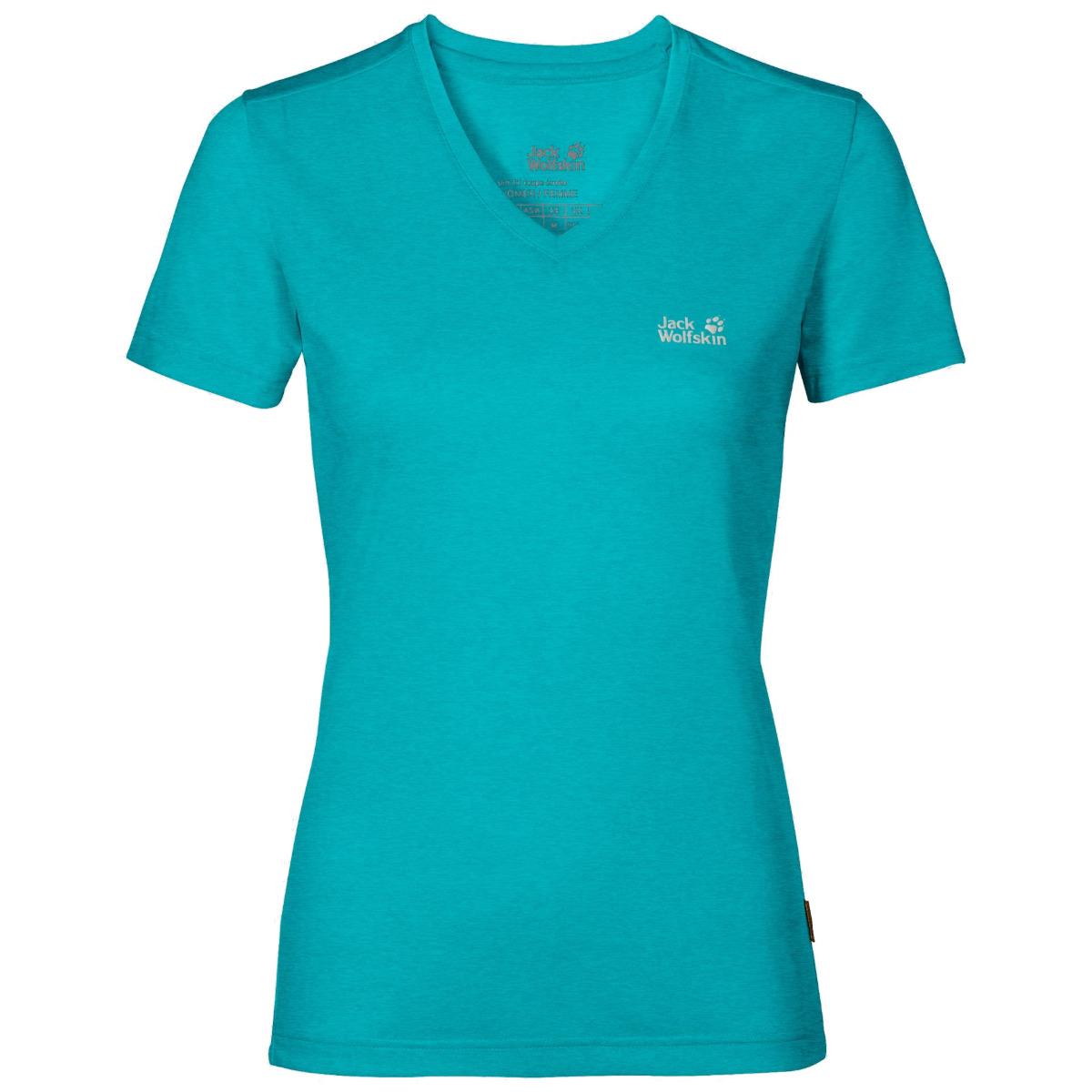 Jack Wolfskin Womens Crosstrail T-shirt-aquamarine-s