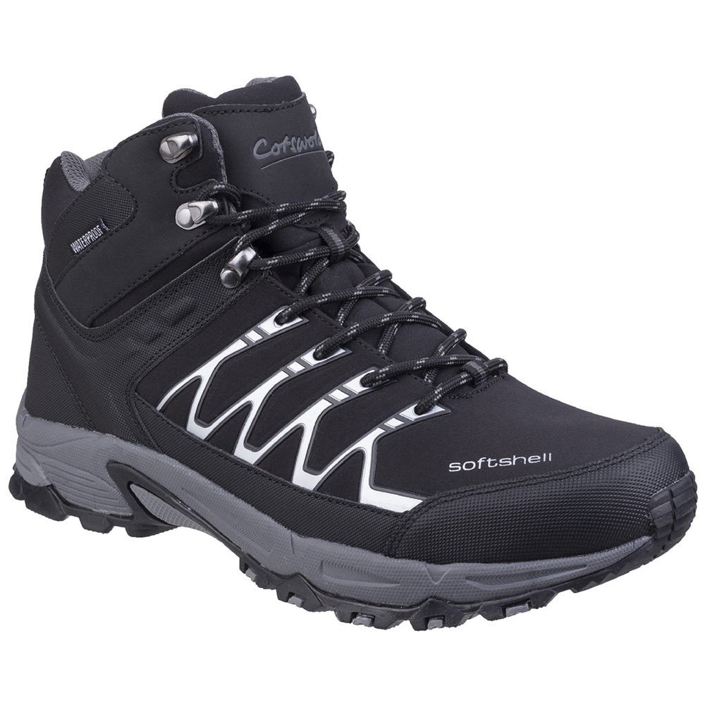 Cotswold Mens Abbeydale Mid Hiking Boots-black-7