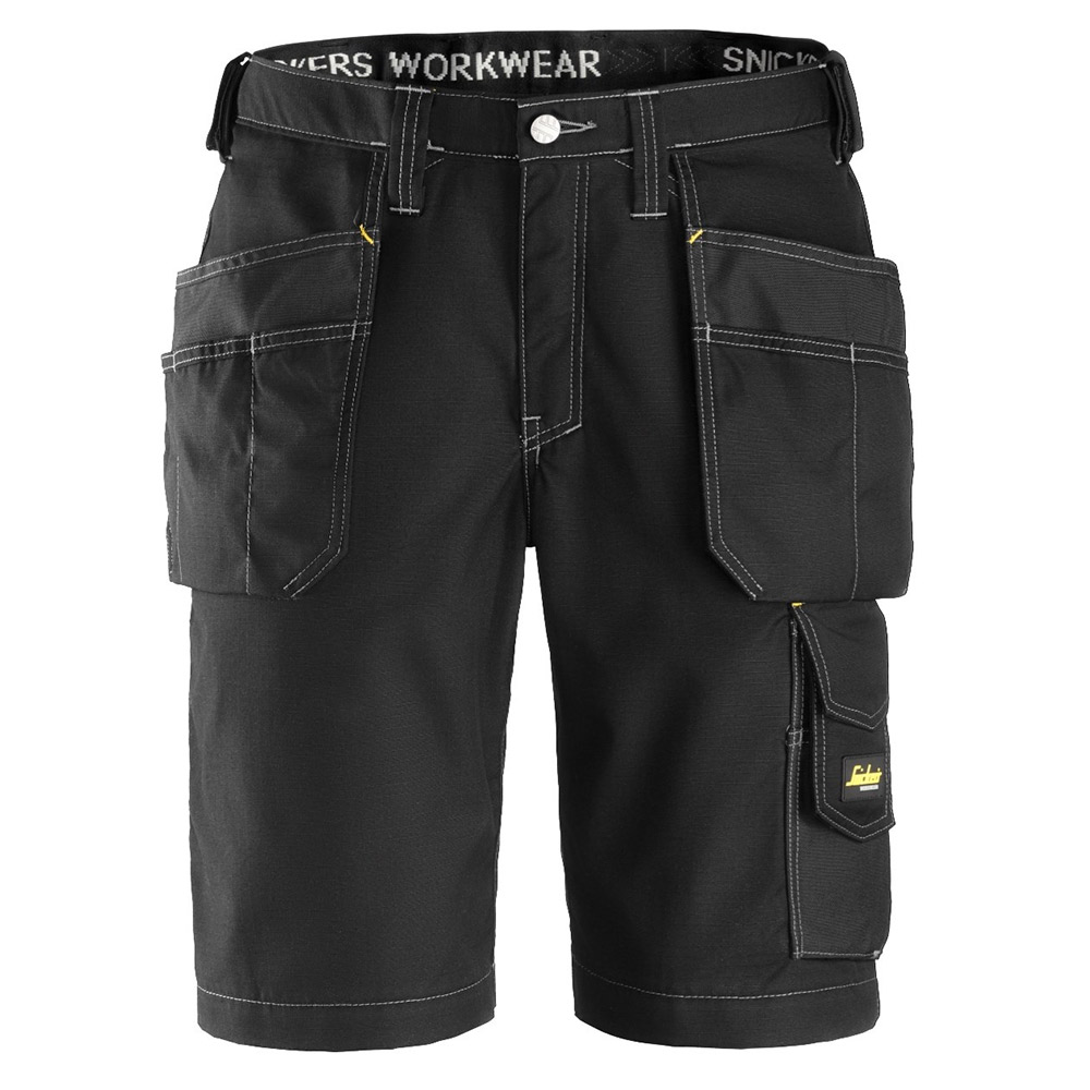 Snickers Craftsman Rip Stop Work Shorts-black-35