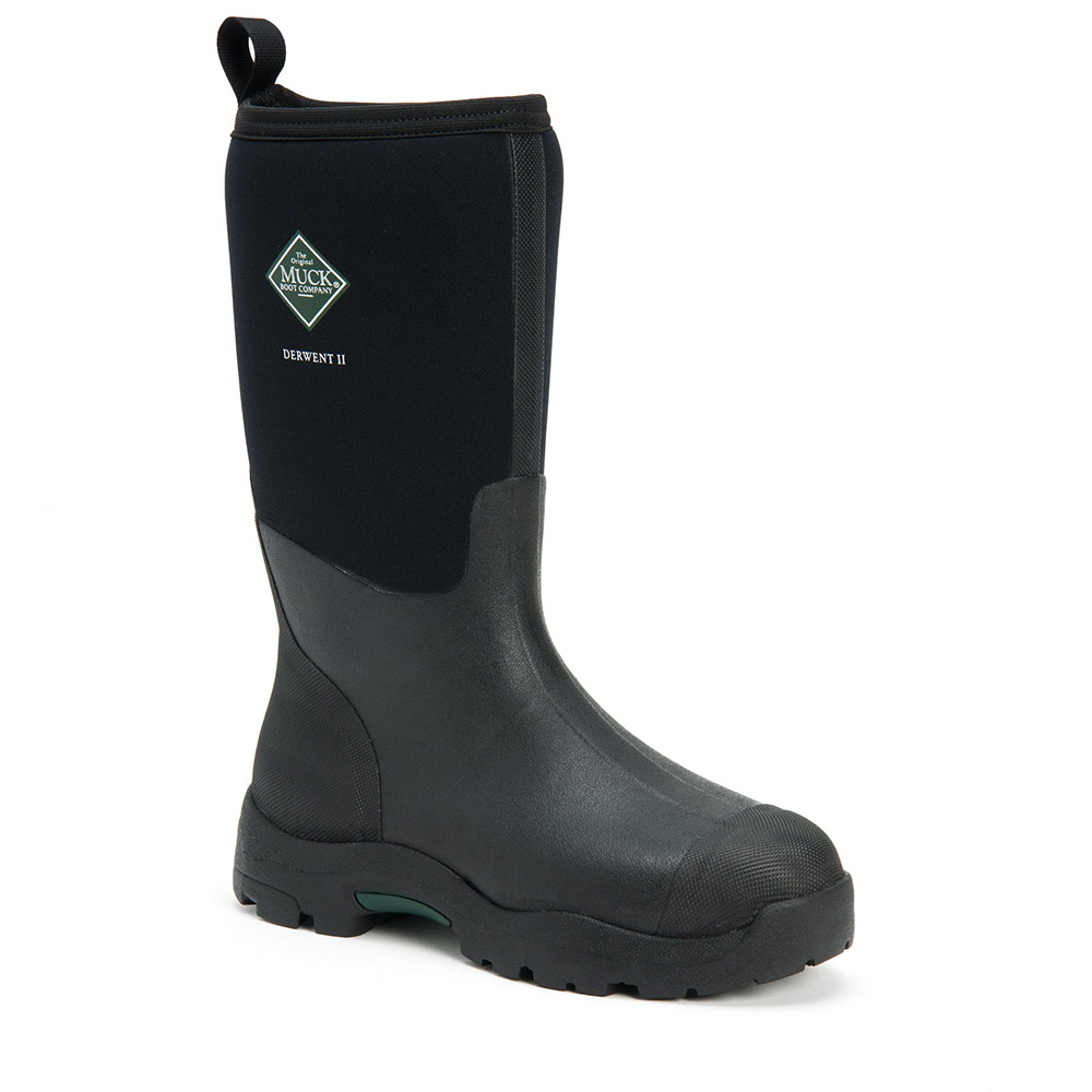 Muck Boot Mens Derwent Ii Waterproof Boots - Black - 9