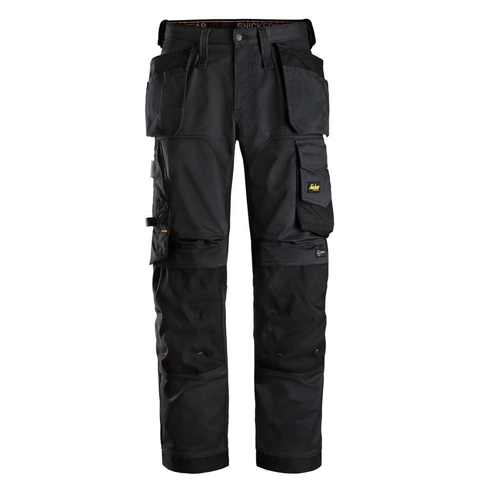 Snickers Mens Allroundwork Loose Fit Work Trousers-black-30-s