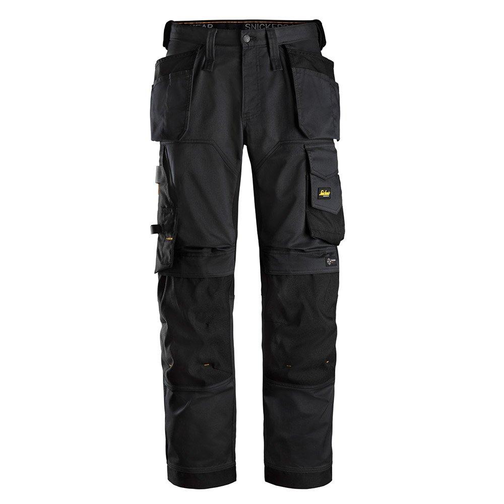 Snickers Mens Allroundwork Loose Fit Work Trousers-black-31-s