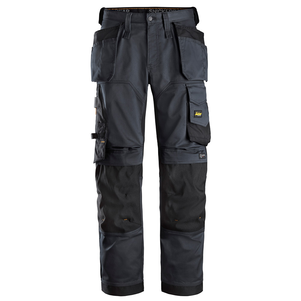 Snickers Mens Allroundwork Loose Fit Work Trousers-grey-33-r
