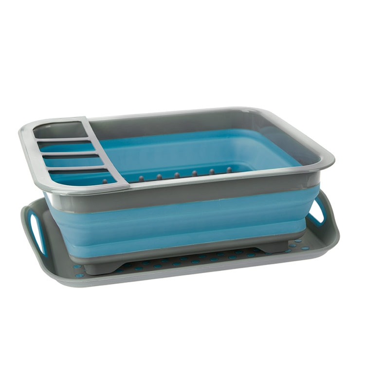 Summit Pop Dish Drainer With Non-slip Tray - Blue