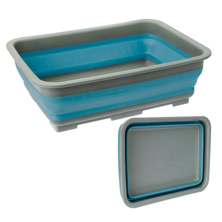 Summit Pop Folding Wash Basin - Blue