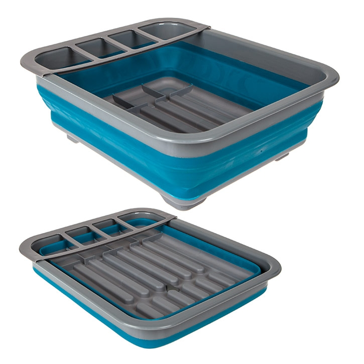 Summit Pop Dish Drainer With Draining System - Blue