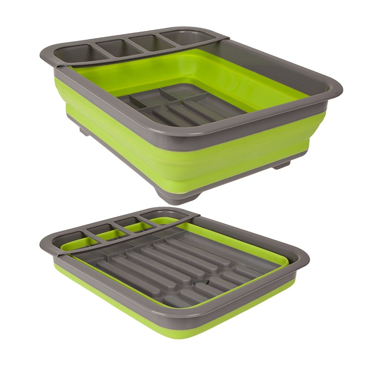 Summit Pop Dish Drainer With Draining System - Lime Green