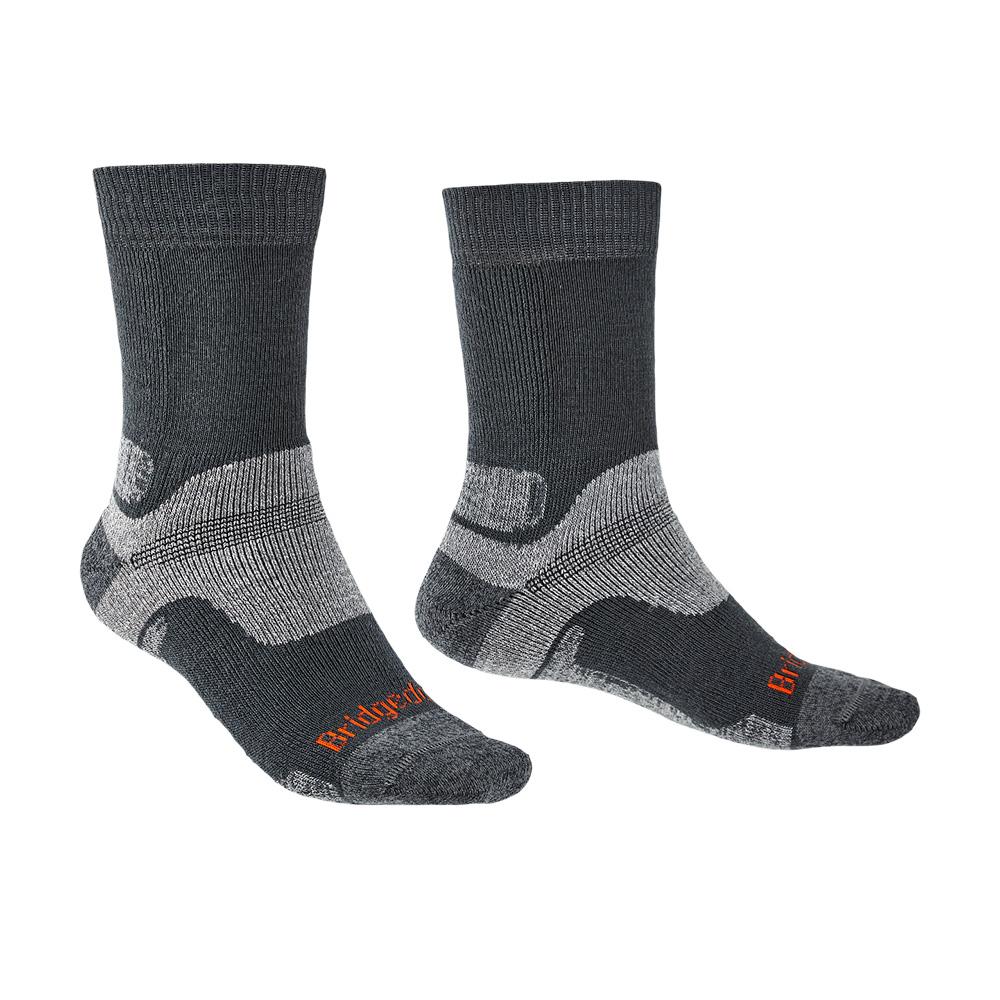Bridgedale Mens Hike Midweight Merino Endurance Boot Socks-gunmetal-6 - 8.5