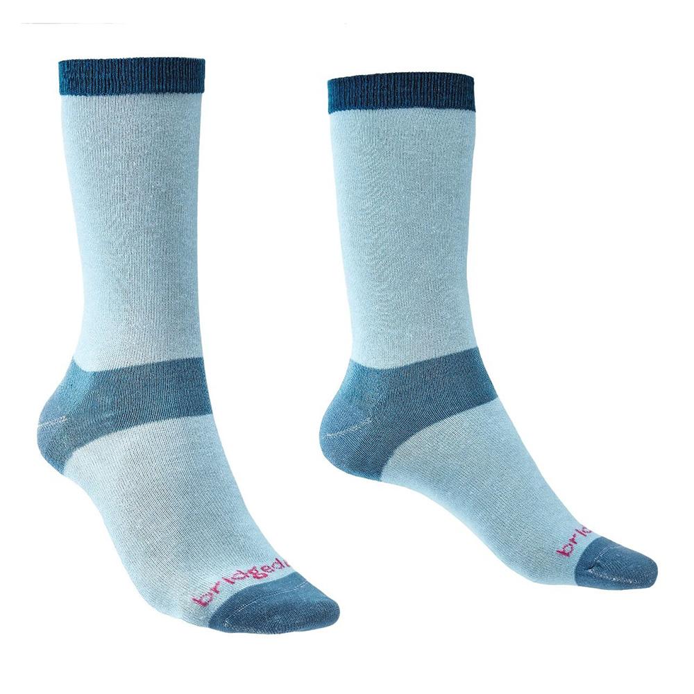 Bridgedale Womens Coolmax Liner Base Layer Boot Socks (2 Pack)