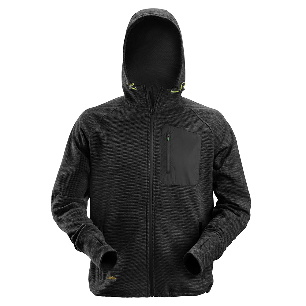 Snickers Mens Flexiwork Fleece Hoodie-black-s