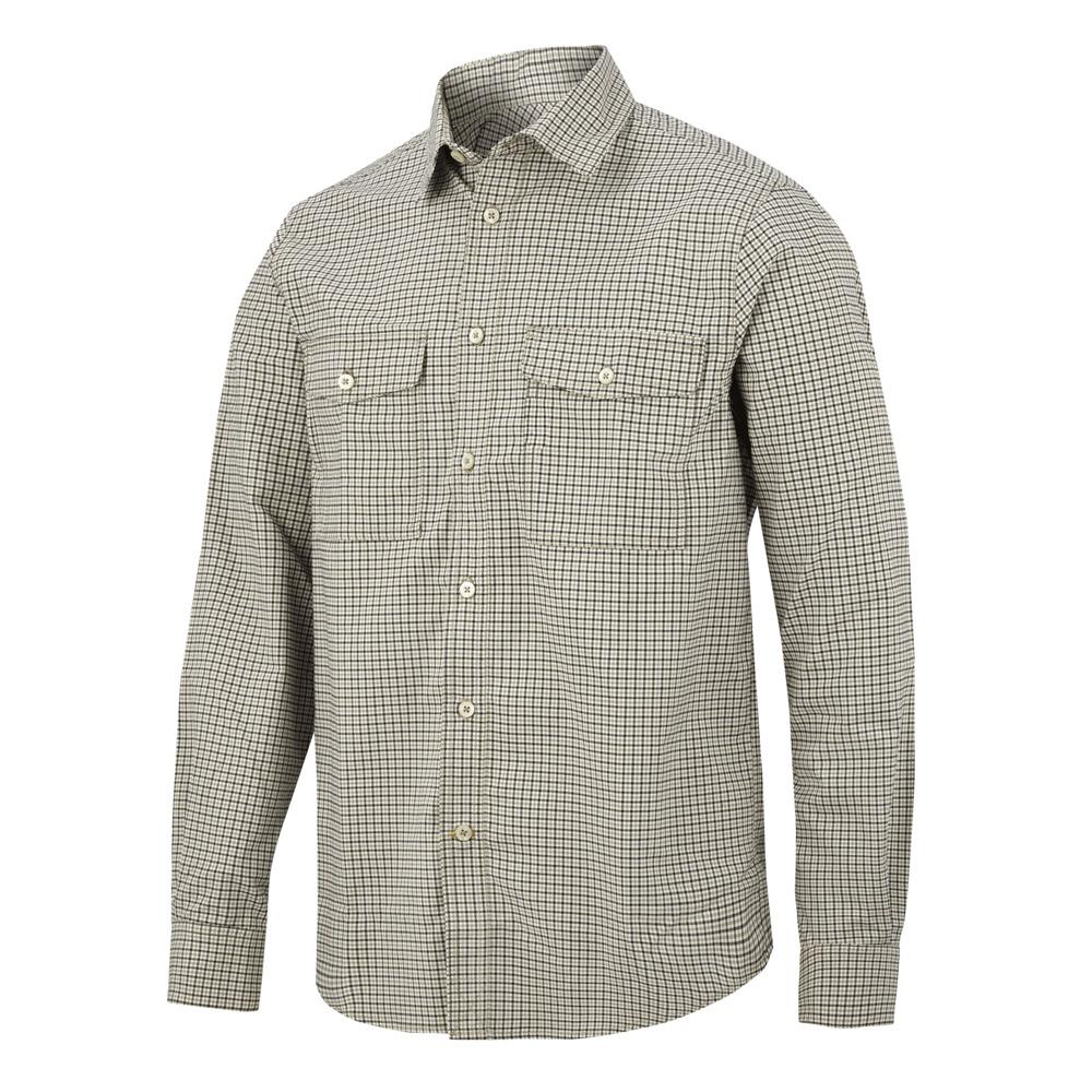Snickers Allroundwork Comfort Checked Shirt - Khaki - S