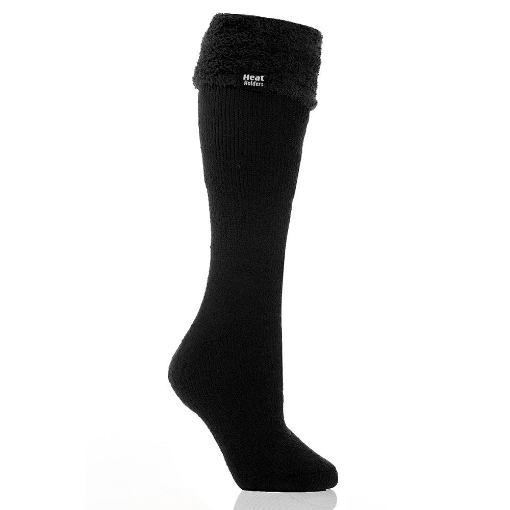 Heat Holders Womens Original Thermal Wellington Socks - Black - 4-8