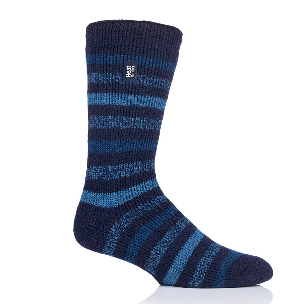 Heat Holders Mens Brambling Original Stripe Socks-navy / Denim-6 - 11
