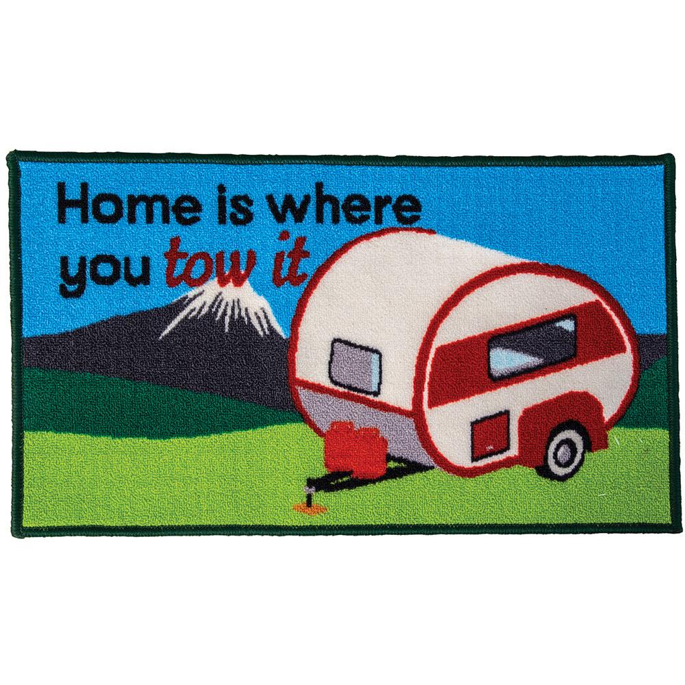 Quest Washable home Is Where You Tow It Caravan Mat