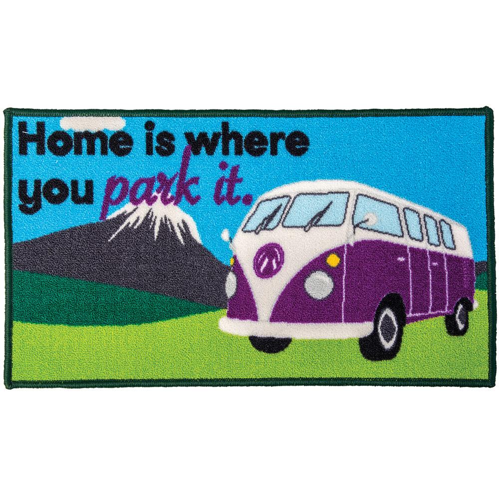Quest Washable home Is Where You Park It Camper Van Mat