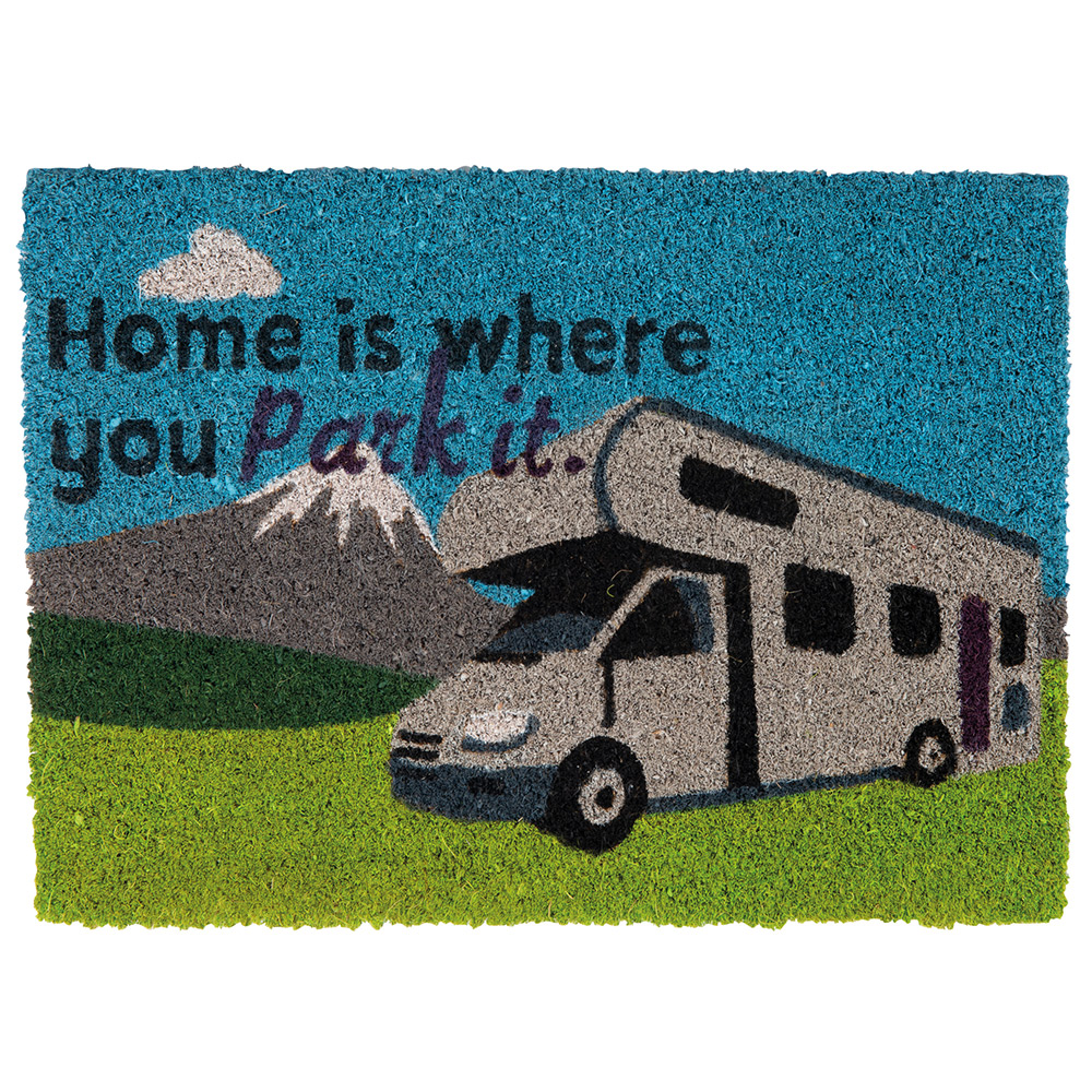 Quest Heavy Duty home Is Where You Park It Motorhome Mat