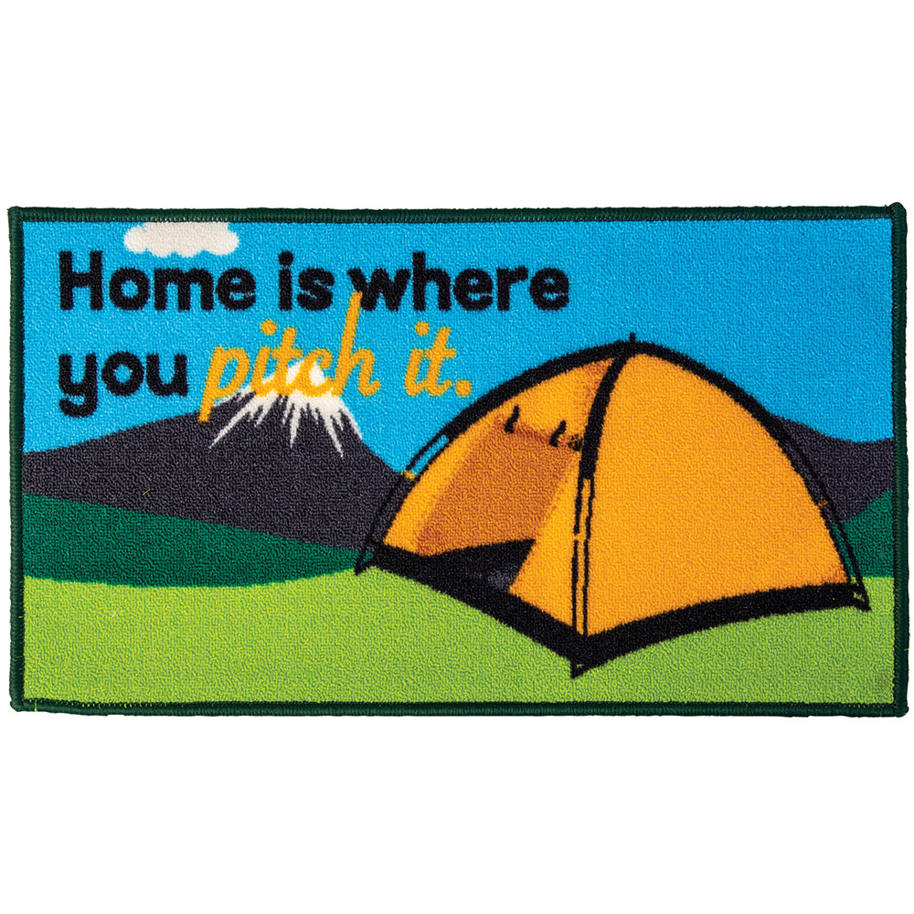 Quest Washable home Is Where You Pitch It Tent Mat