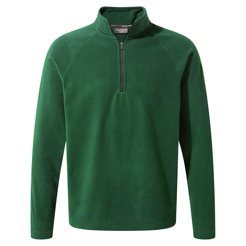 Craghoppers Mens Expert Basecamp Half Zip Fleece-green-l