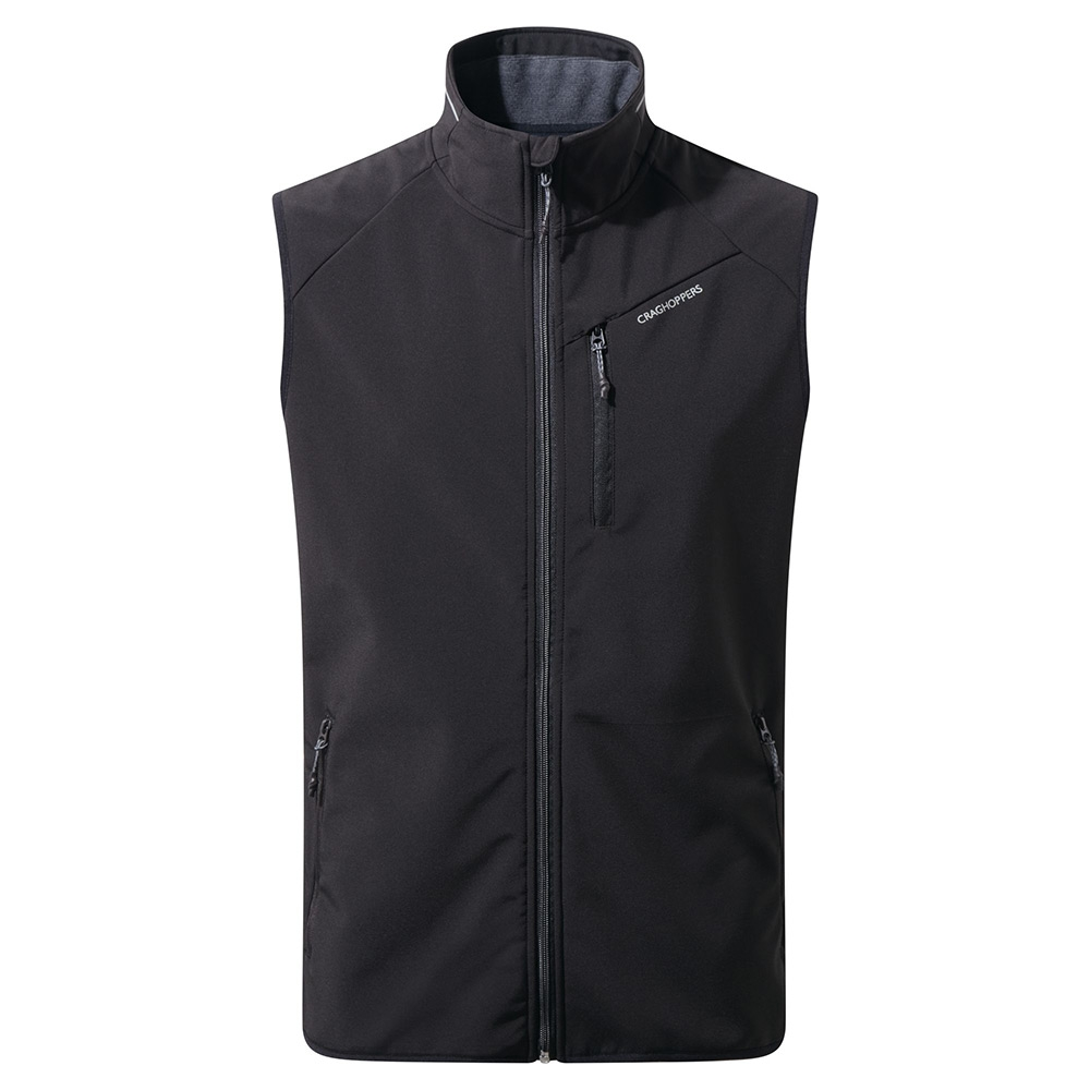 Craghoppers Mens Baird Softshell Vest - Black - S