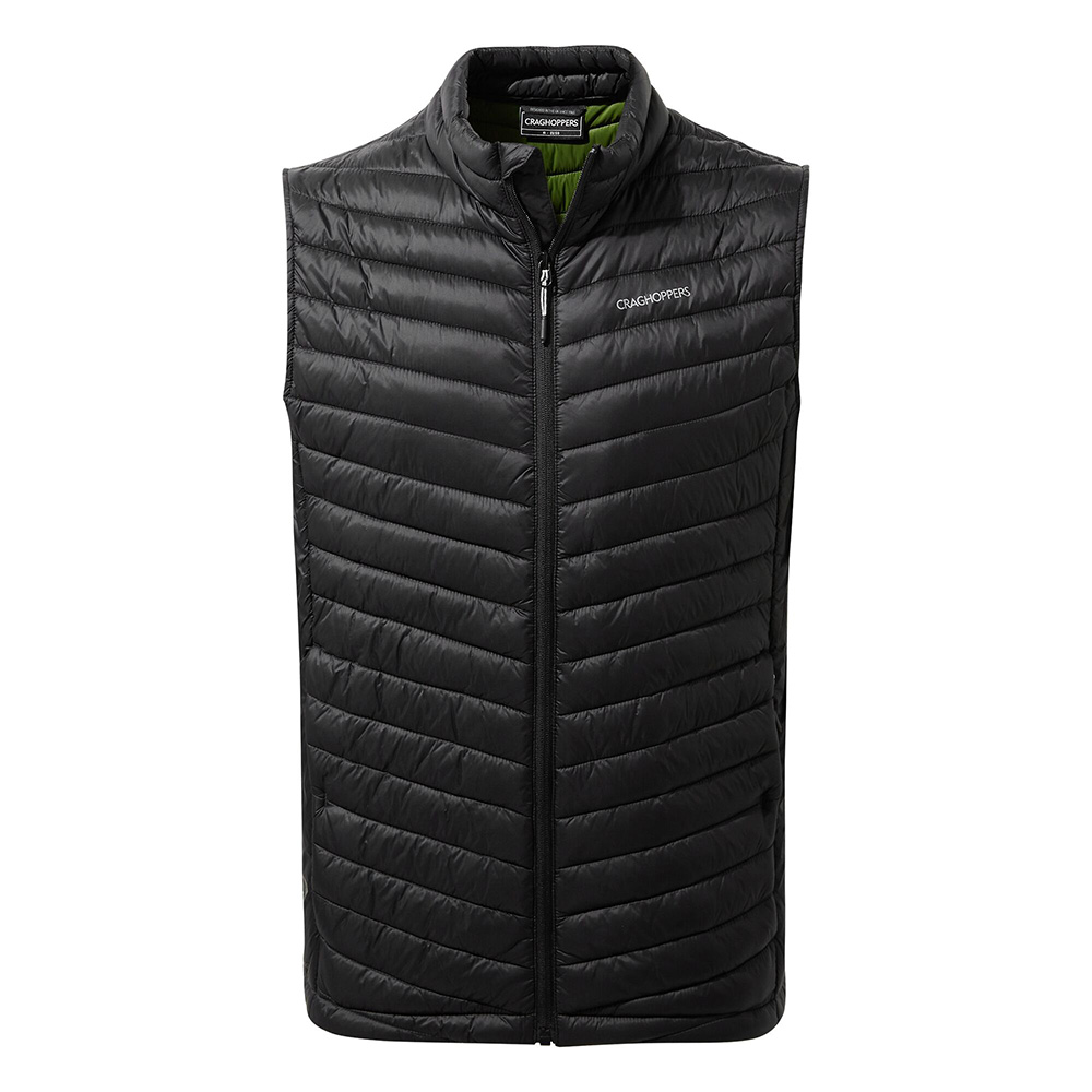 Craghoppers Mens Expolite Insulated Gilet-black / Dark Agave Green-m