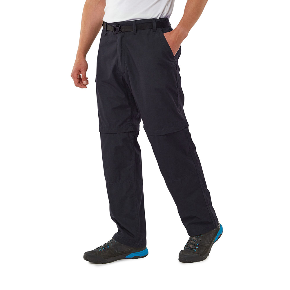 Craghoppers Mens C65 Winter Lined Walking Trousers - Black Pepper - 30s