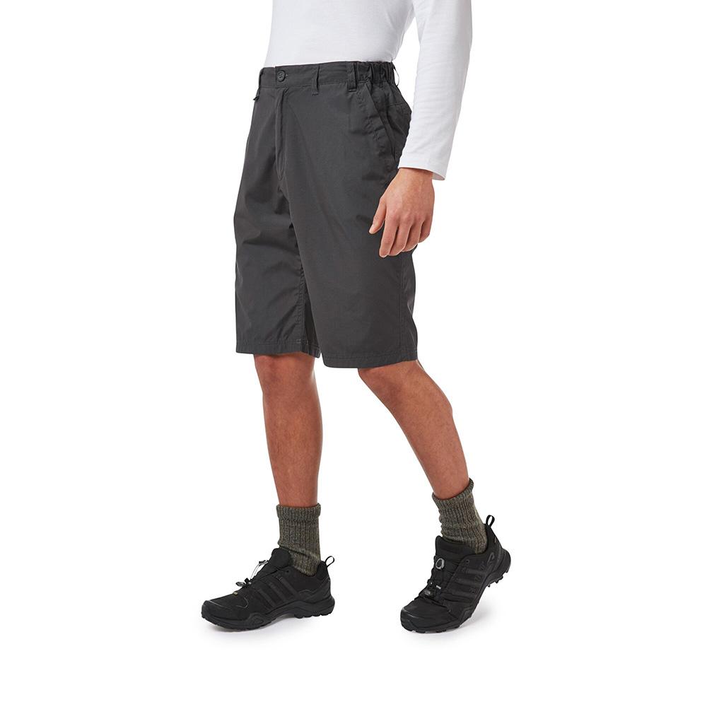 Craghoppers Mens Kiwi Long Shorts - Black Pepper - 34