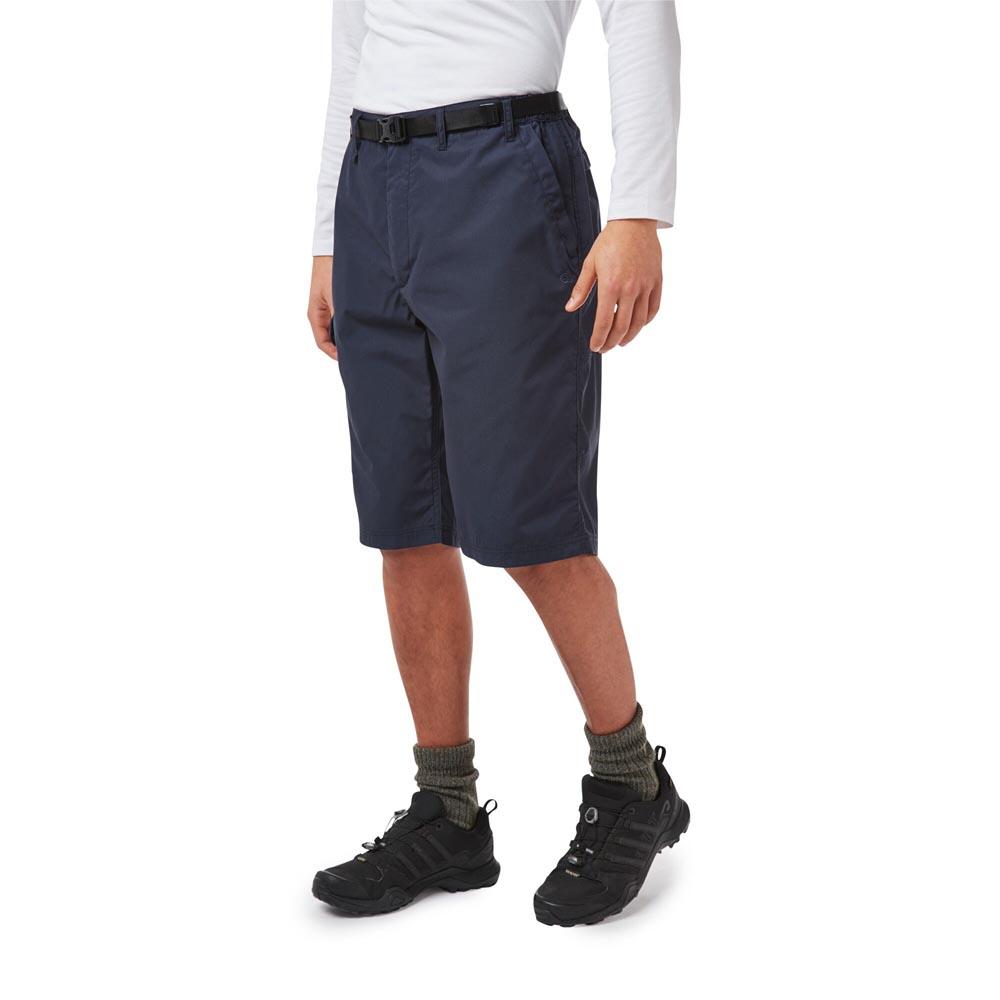 Craghoppers Mens Kiwi Long Shorts-steel Blue-32