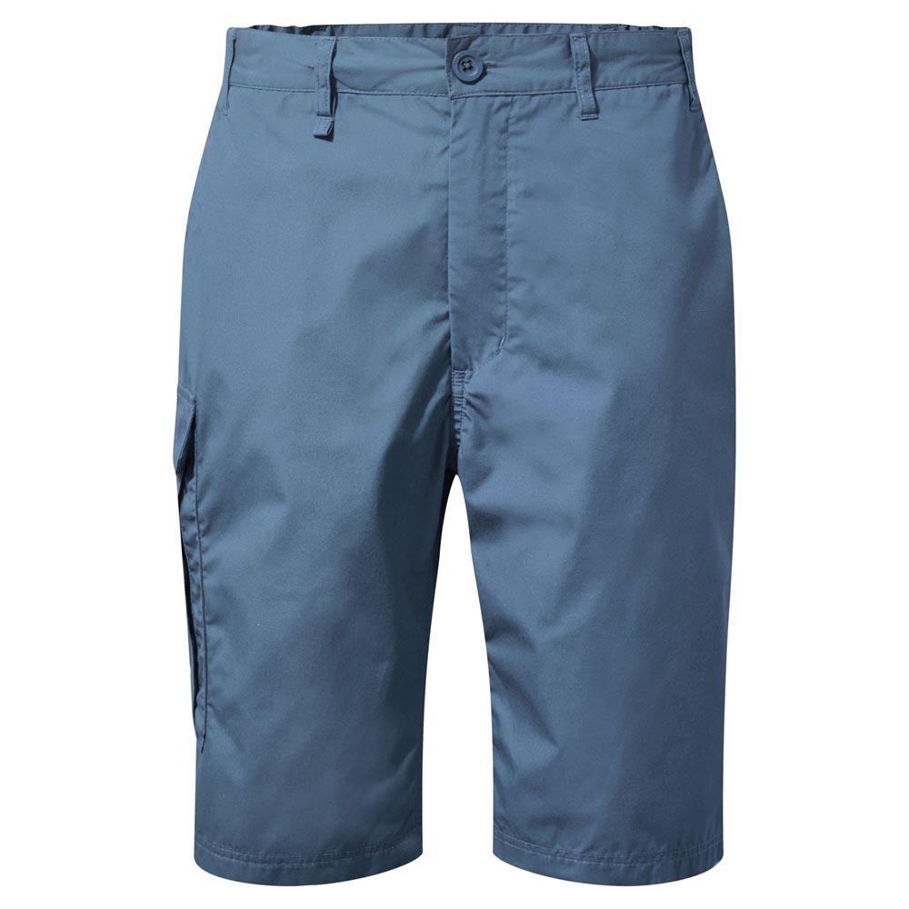 Craghoppers Mens Kiwi Long Shorts-ocean Blue-38