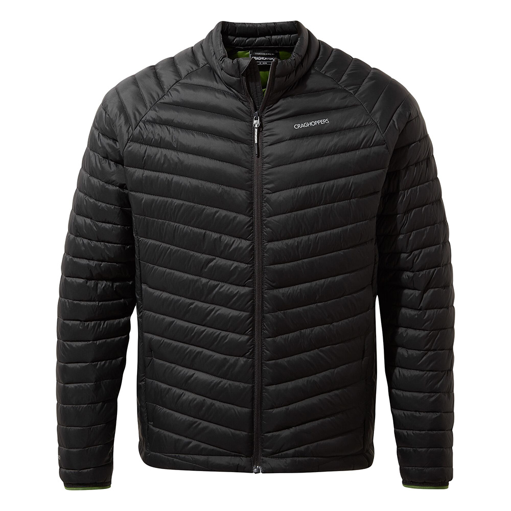 Craghoppers Mens Expolite Insulated Jacket-black Pepper / Dark Agave Green-s