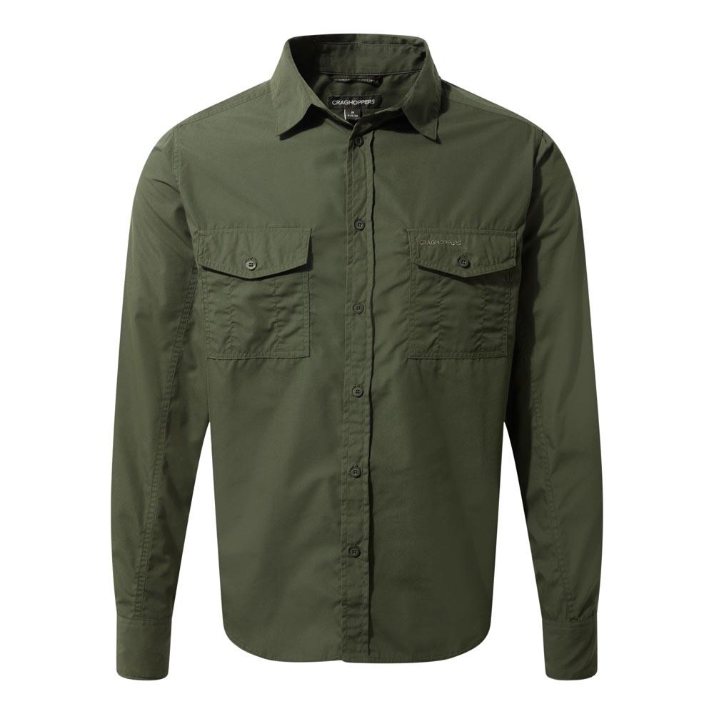 Craghoppers Mens Kiwi Long Sleeved Shirt - Cedar - S