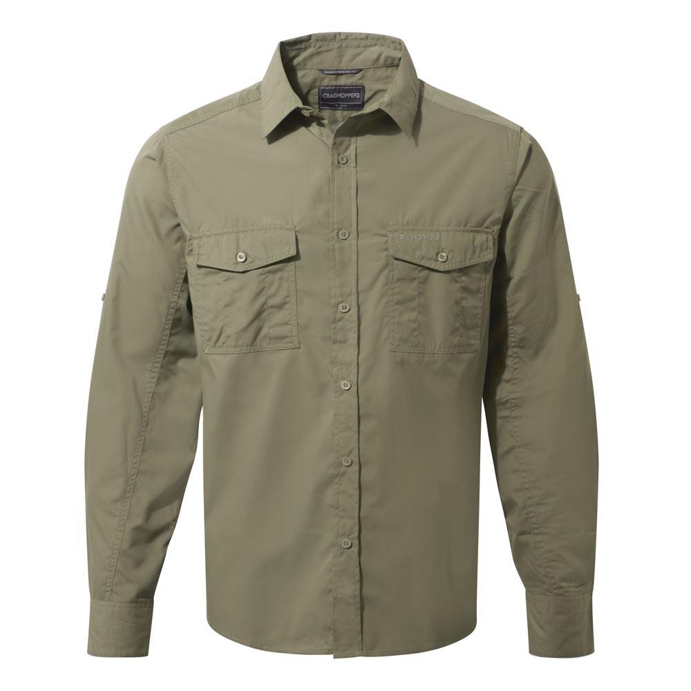 Craghoppers Mens Kiwi Long Sleeved Shirt - Pebble - M