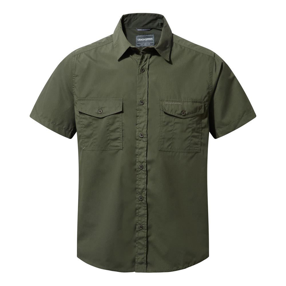 Craghoppers Mens Kiwi Short Sleeved Shirt-cedar-m