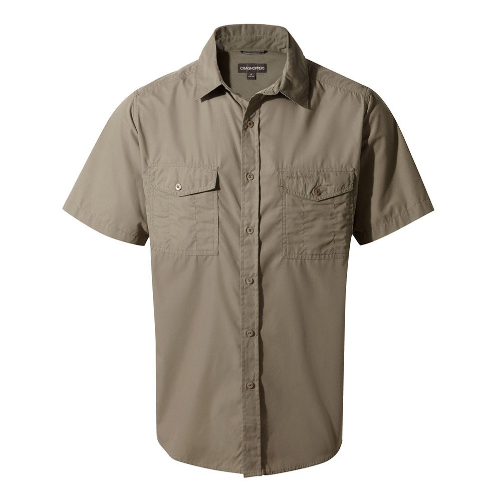 Craghoppers Mens Kiwi Short Sleeved Shirt - Pebble - 2xl