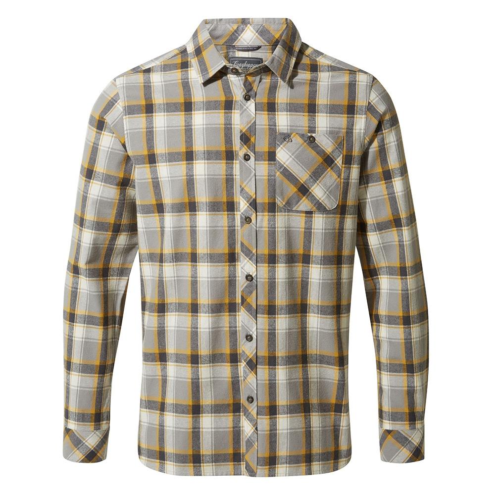 Craghoppers Mens Harris Long Sleeved Shirt - Dark Grey Check - L