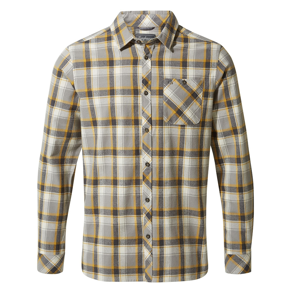 Craghoppers Mens Harris Long Sleeved Shirt - Dark Grey Check