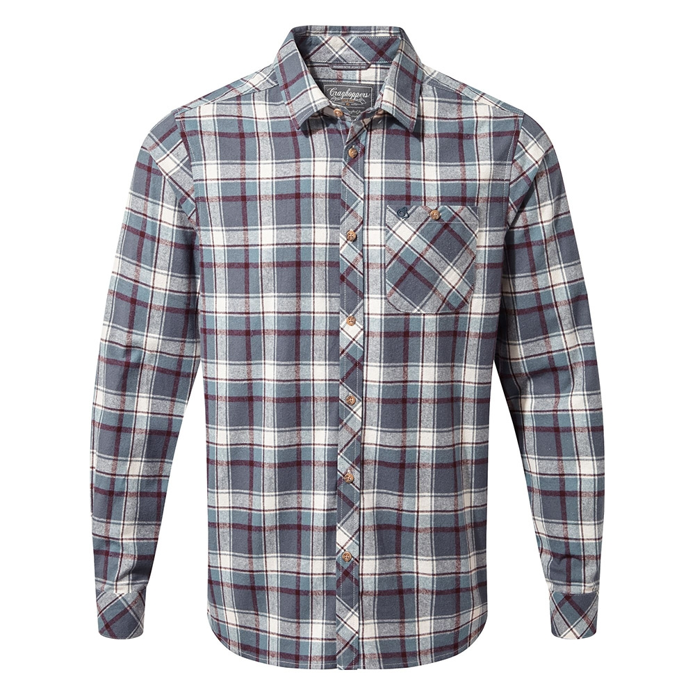Craghoppers Mens Harris Long Sleeved Shirt - Ombre Blue Check - M