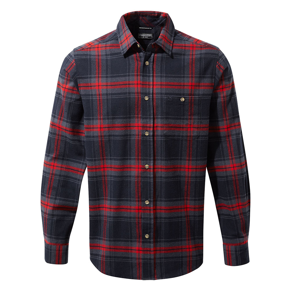 Craghoppers Mens Wilmot Long Sleeved Shirt-blue Navy Check-s